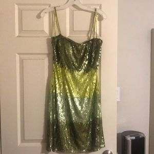 Gorgeous sequin dress. Green. Wore once. Brand new